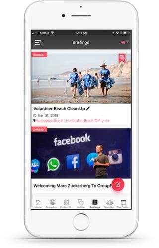 in-app news feed