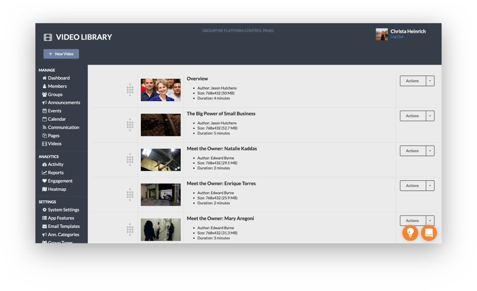 Manage Your Video Library