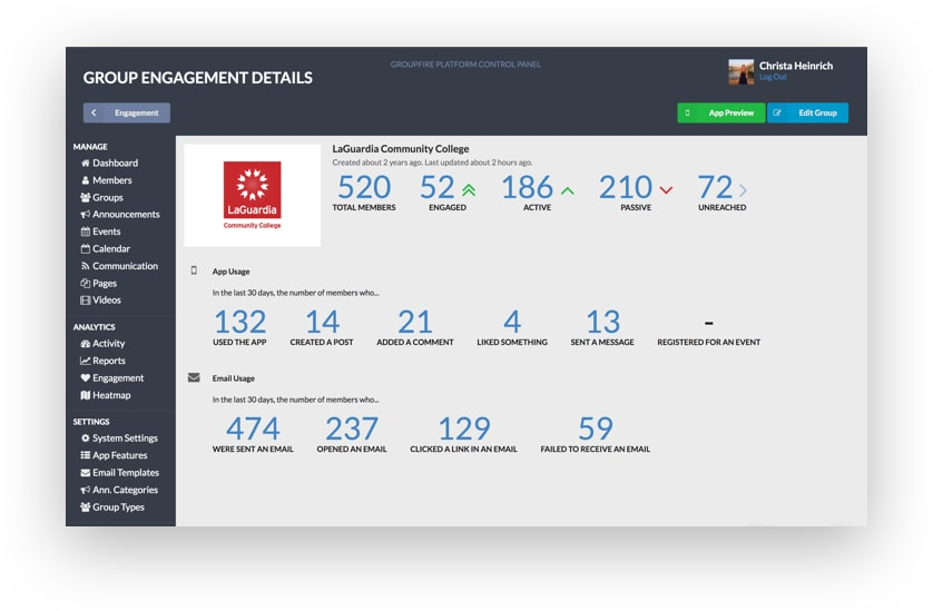 Real Time Engagement Dashboards
